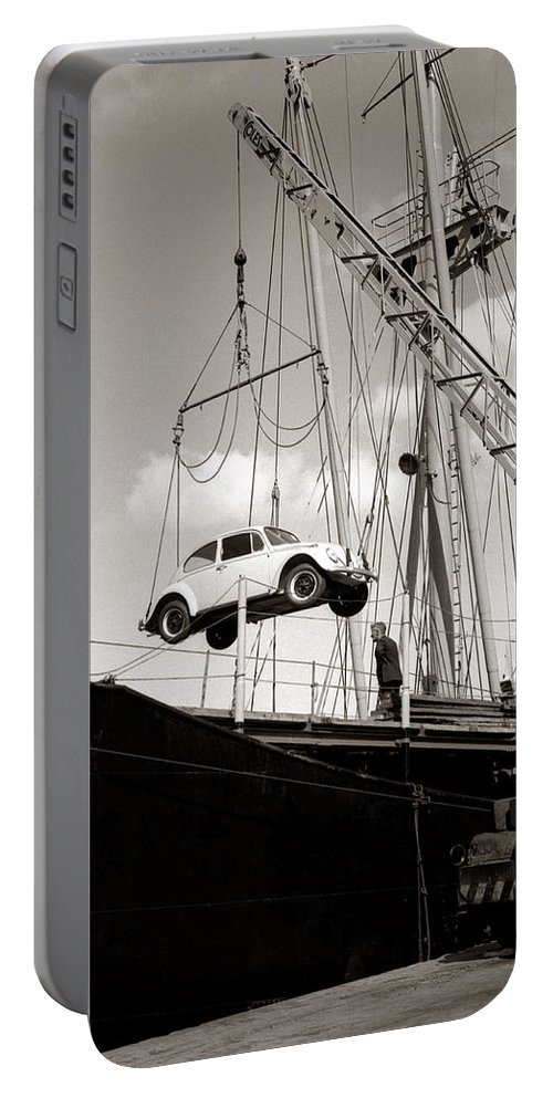 Hart Photography Portable Battery Charger featuring the photograph Vw Beetle, Ramsgate - 1960's  Ref-501 by Hart Photography Ltd