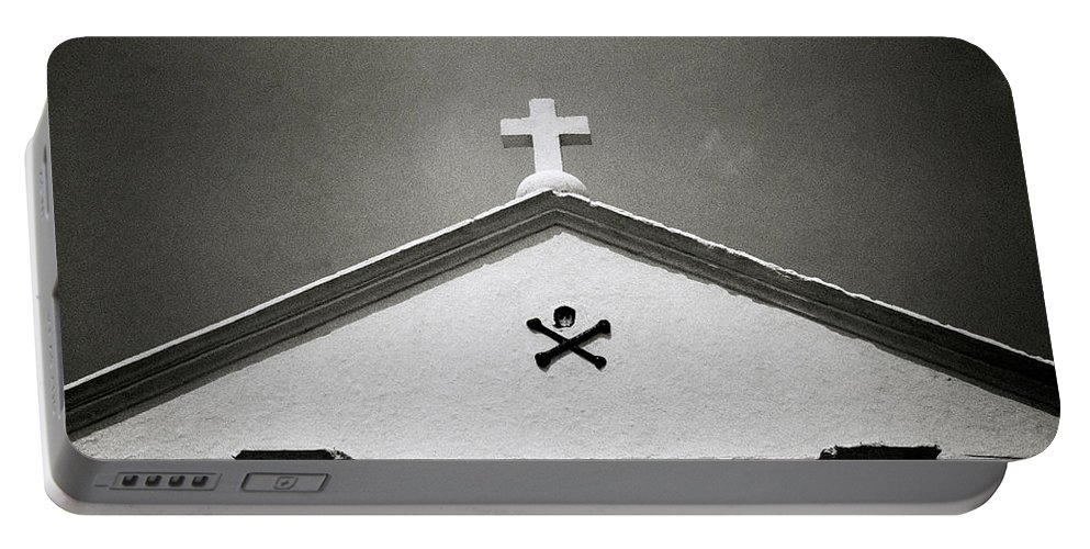 Christianity Portable Battery Charger featuring the photograph Skull And Crossbones by Shaun Higson