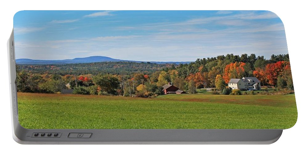 Harvard Ma Portable Battery Charger featuring the photograph Wachusett Mountain From Harvard Ma by Michael Saunders