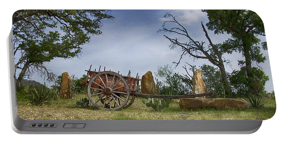Wagon-hill Country Portable Battery Charger featuring the photograph Wagon-hill Country Texas V2 by Douglas Barnard