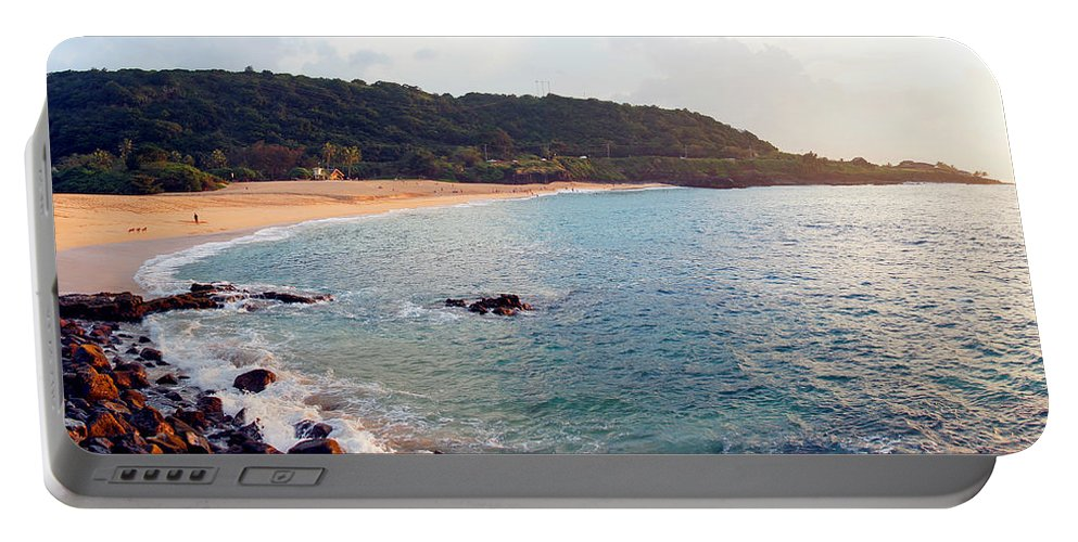 Waimea Bay Portable Battery Charger featuring the photograph Waimea Bay Sunset by Kevin Smith