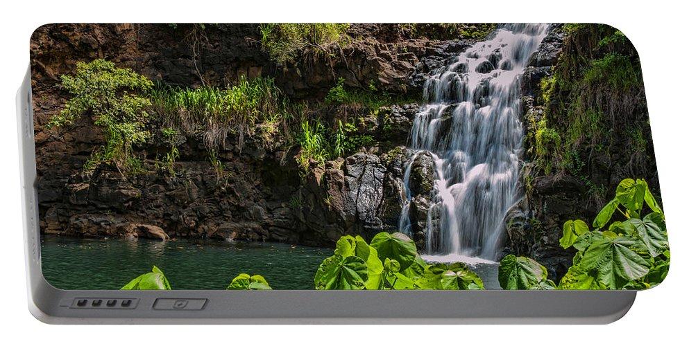 Hawaii Portable Battery Charger featuring the photograph Waimea Falls by Dan McManus