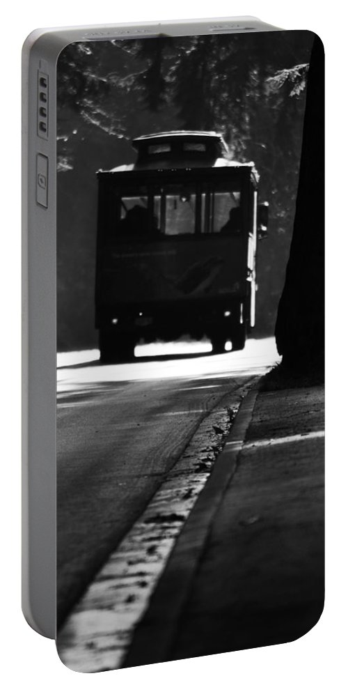 Street Photographer Portable Battery Charger featuring the photograph Waiting For Charlie by The Artist Project