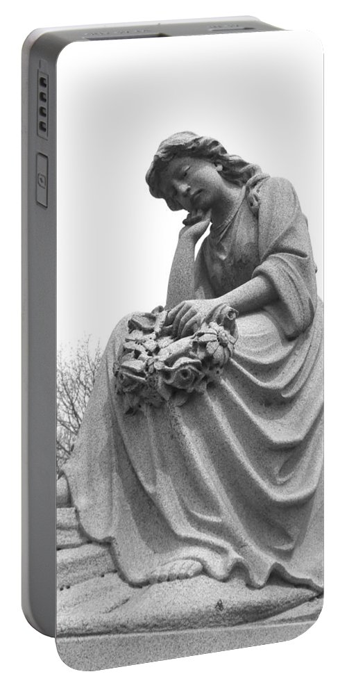 Cemetery Portable Battery Charger featuring the photograph Waiting For Eternity by Rachel Kaufmann