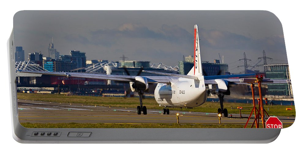 Cityjet Portable Battery Charger featuring the photograph Waiting For Take-off by David Pyatt