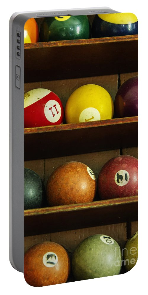 Pool Portable Battery Charger featuring the photograph Waiting For The Game by Margie Hurwich