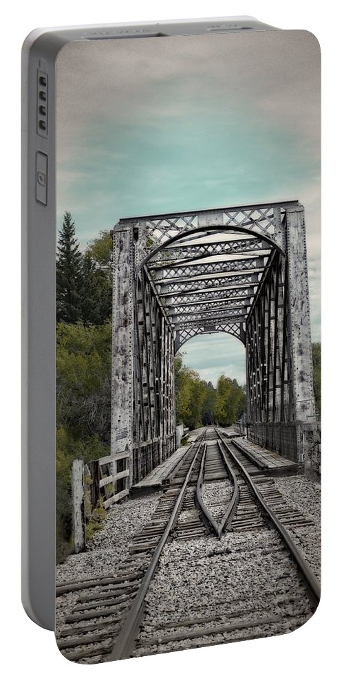 Idaho Falls Portable Battery Charger featuring the photograph Waiting For The Train by Image Takers Photography LLC