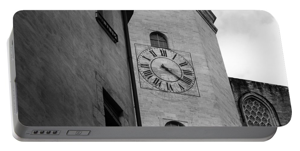 Church Clock Portable Battery Charger featuring the photograph Waiting On You by Mair Hunt