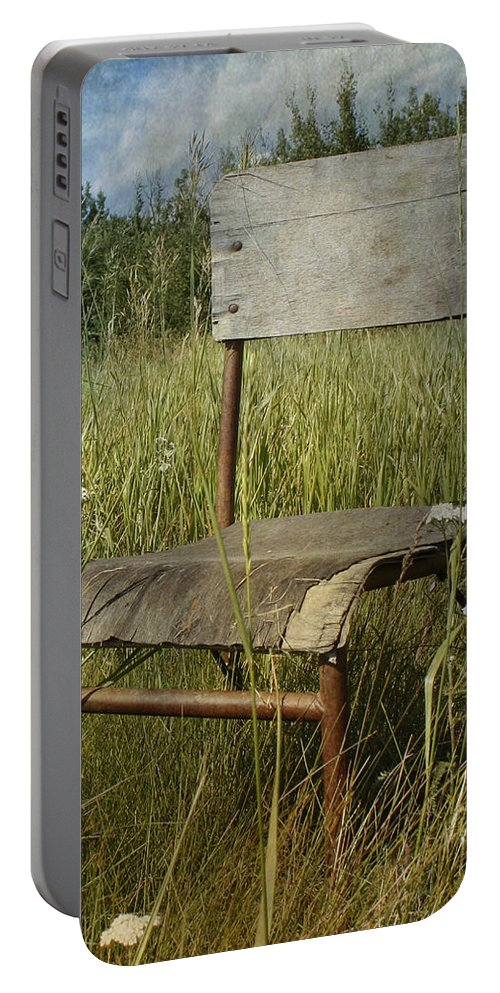 Chair Portable Battery Charger featuring the photograph Walk by The Artist Project
