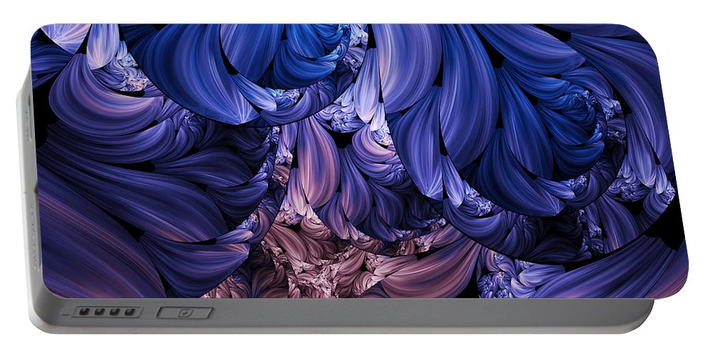 Abstract Portable Battery Charger featuring the digital art Walk Through The Petals Abstract by Georgiana Romanovna