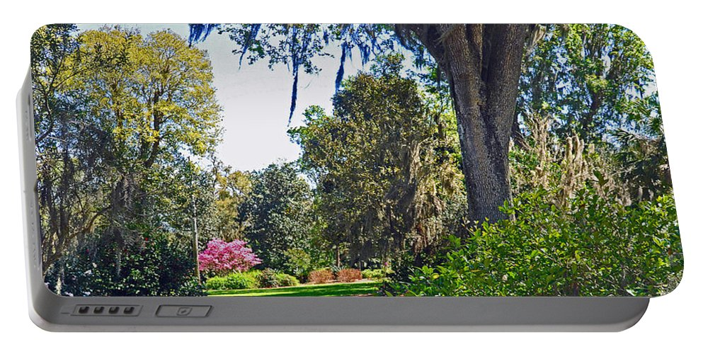 Landscapes Portable Battery Charger featuring the photograph Walking In A Garden by Deborah Good