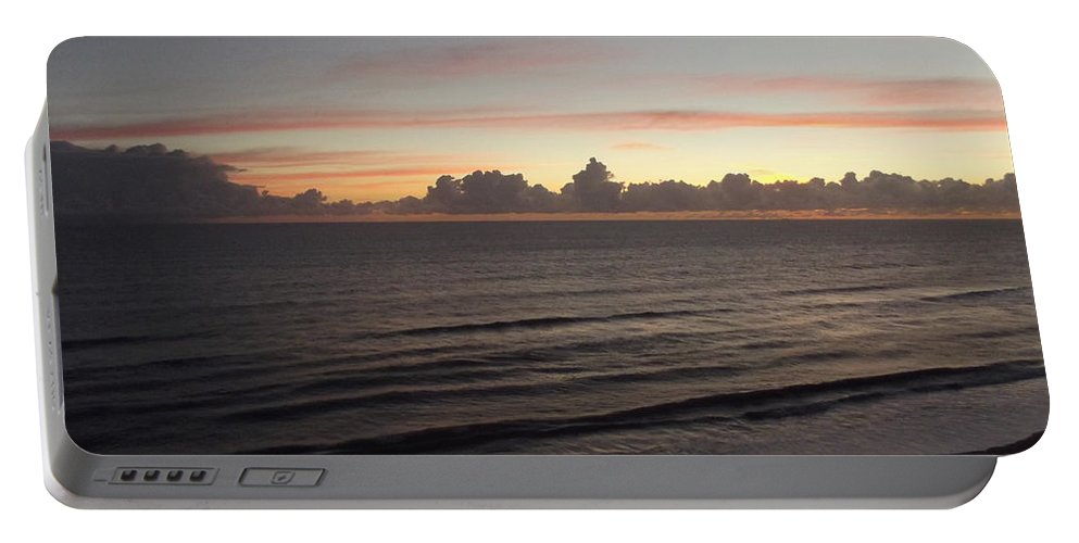 Sunrise Portable Battery Charger featuring the photograph Walking The Beach At Sunrise by Jennifer Lavigne