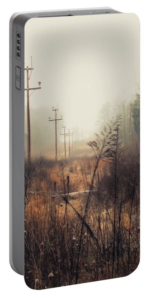 Nature Portable Battery Charger featuring the photograph Walking The Lines by Jessica Brawley