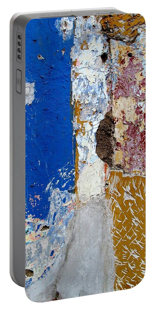 Texture Portable Battery Charger featuring the digital art Wall Abstract 142 by Maria Huntley