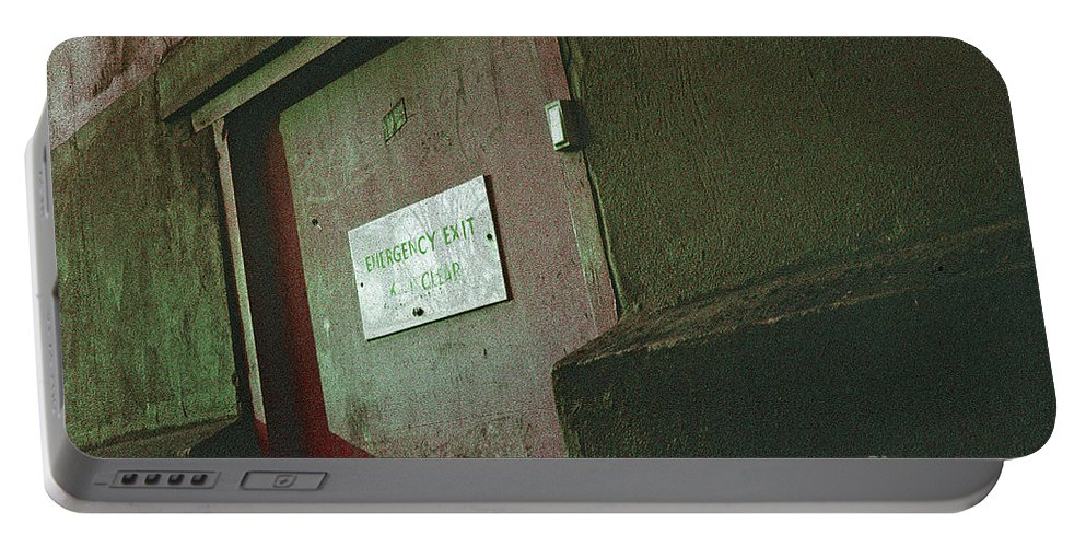 Wall Exterior still Life Perspective War Urban City London Peckham Expressionist Portable Battery Charger featuring the photograph Wall by Neil Pollick
