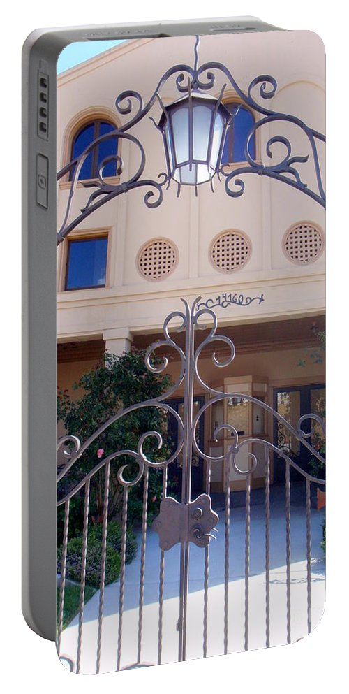 Walnut Grove Portable Battery Charger featuring the photograph Walnut Grove Theater by Mary Deal