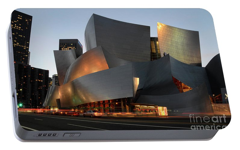 Bob Portable Battery Charger featuring the photograph Walt Disney Concert Hall 21 by Bob Christopher