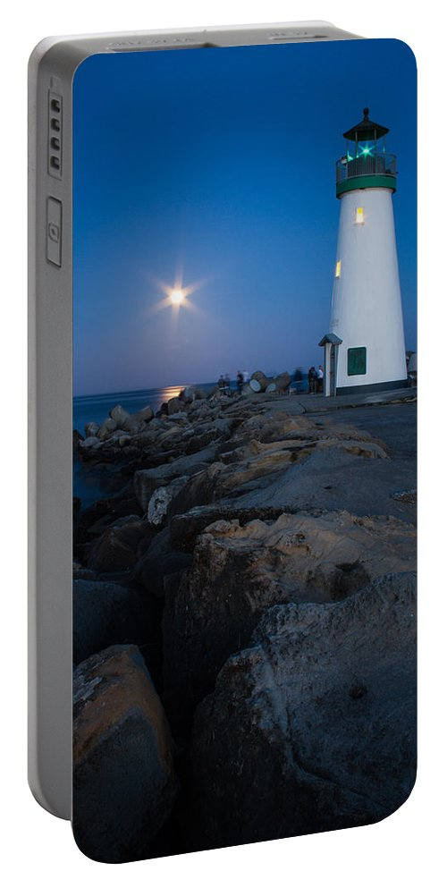 Santa Cruz Portable Battery Charger featuring the photograph Walton Moon Burst by Dayne Reast