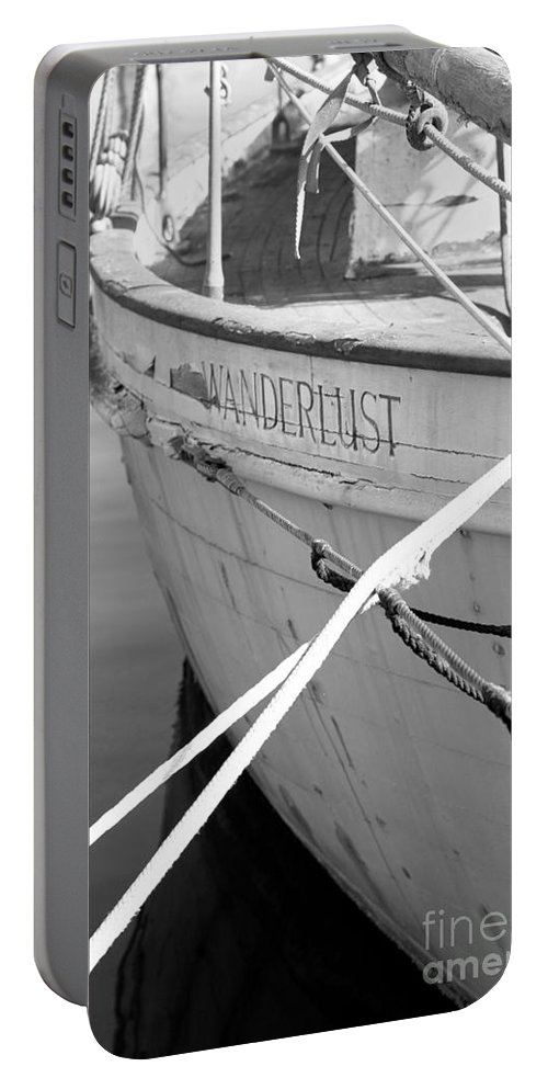 Wanderlust Portable Battery Charger featuring the photograph Wanderlust Black And White by Amanda Barcon