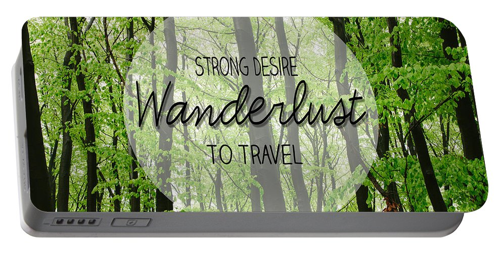 Wanderlust Portable Battery Charger featuring the photograph Wanderlust by Pati Photography