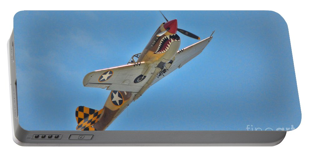 Curtis P-40 Warhawk Portable Battery Charger featuring the photograph Warhawk Fighter by Tommy Anderson