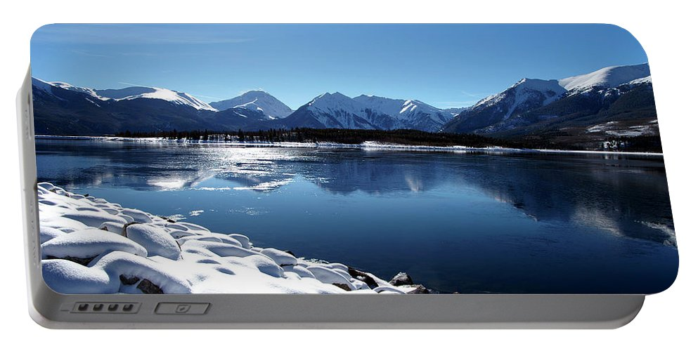 Rocky Mountains Portable Battery Charger featuring the photograph Warm December by Jeremy Rhoades