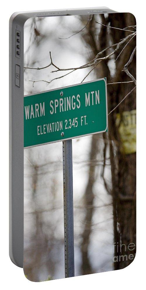 Warm Springs Mountain Portable Battery Charger featuring the photograph Warm Springs Mountain by Jason O Watson