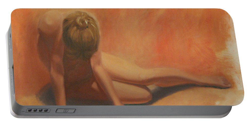 Figurative Portable Battery Charger featuring the painting Warmth by Sarah Parks
