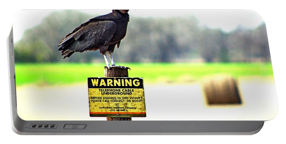Warning Portable Battery Charger featuring the photograph Warning by Gary Richards