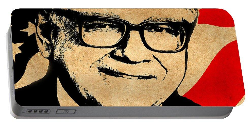 Buffett Portable Battery Charger featuring the photograph Warren Buffett by Andrew Fare