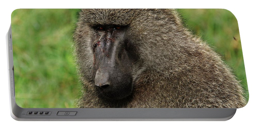 East Africa Portable Battery Charger featuring the photograph Warrior by Aidan Moran