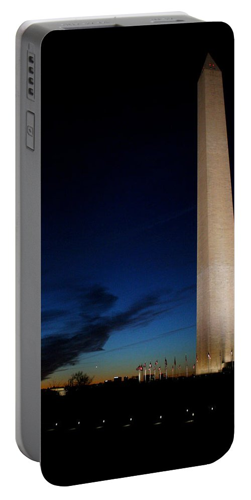 Washington Monument Portable Battery Charger featuring the photograph Washington by Allan Lovell