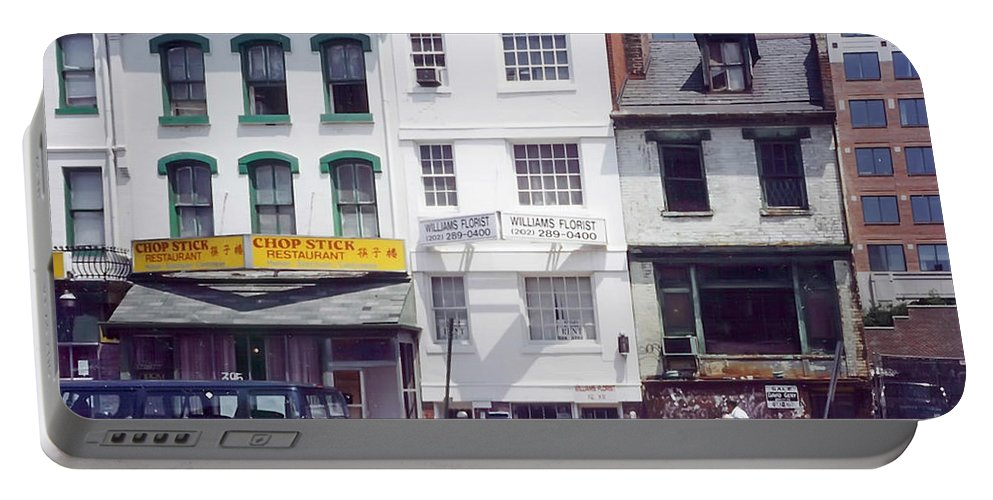 View Of Washington's Chinatown In The 1980s. Portable Battery Charger featuring the photograph Washington Chinatown In The 1980s by Thomas Marchessault