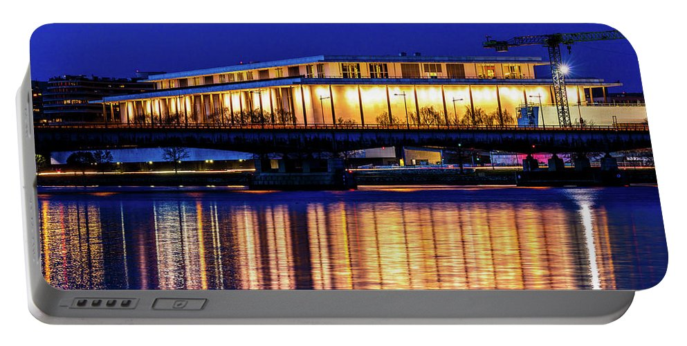 Photography Portable Battery Charger featuring the photograph Washington D.c. -kennedy Center by Panoramic Images