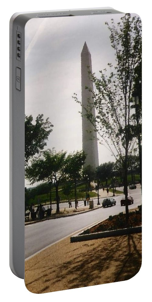 Washington Monument Portable Battery Charger featuring the photograph Washington Monument by Pharris Art