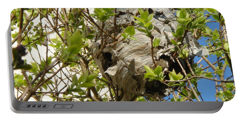 Europe Portable Battery Charger featuring the photograph Wasps' Nest by Rod Johnson