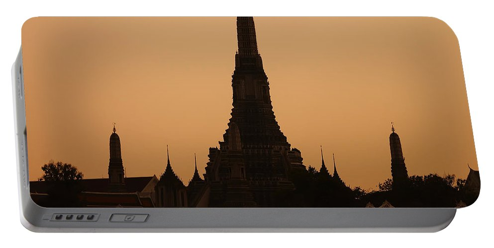 3scape Photos Portable Battery Charger featuring the photograph Wat Arun by Adam Romanowicz