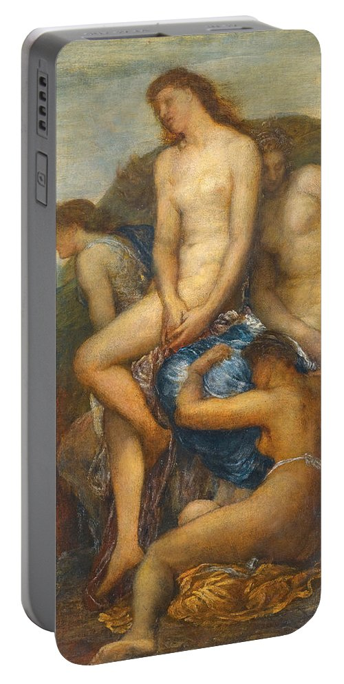 George Frederic Watts Portable Battery Charger featuring the painting Watching For The Return Of Theseus by George Frederic Watts