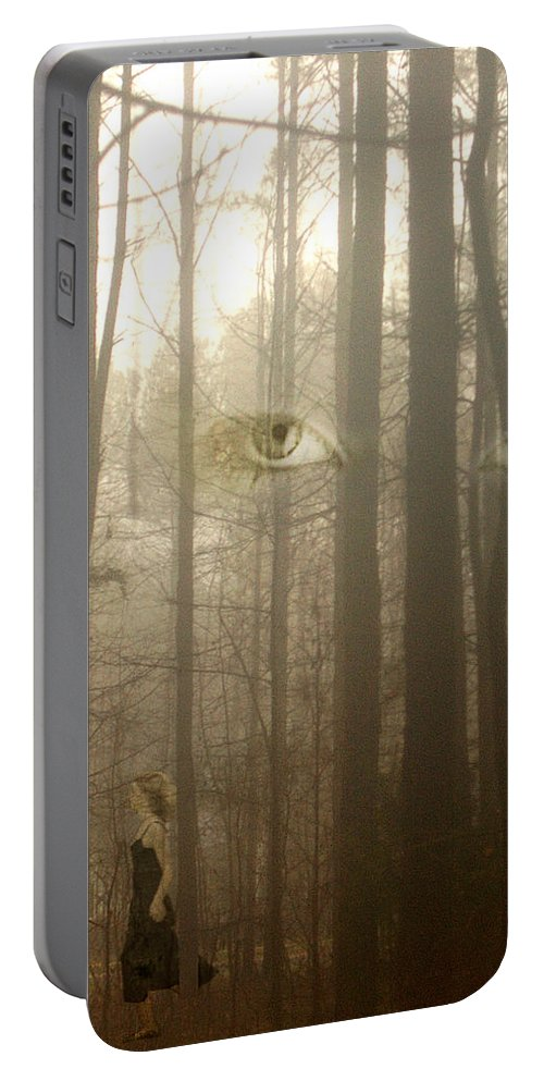 Eyes Portable Battery Charger featuring the photograph Watching by Jan Marvin