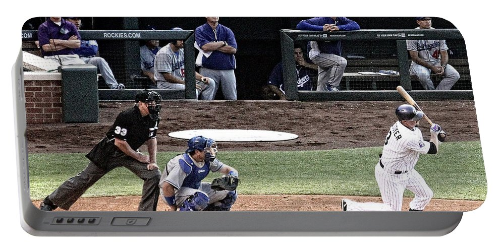 Colorado Portable Battery Charger featuring the photograph Watching The Ball by Bob Hislop