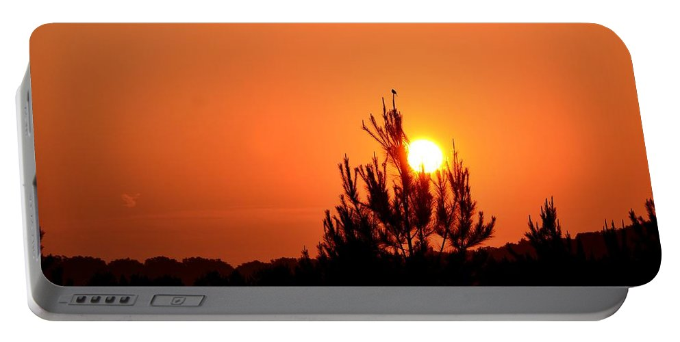 Watching The Sun Rise Portable Battery Charger featuring the photograph Watching The Sun Rise by Maria Urso