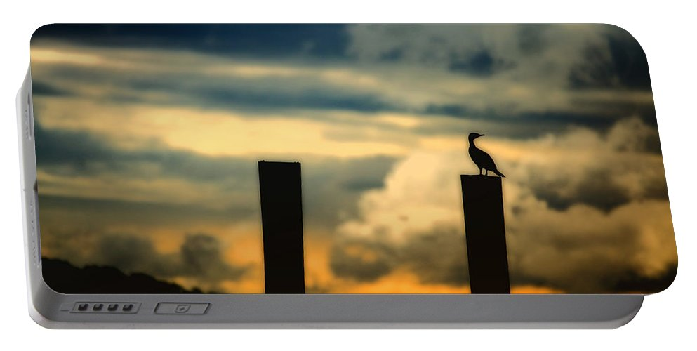 Landscape Portable Battery Charger featuring the photograph Watching The Sunrise by Karol Livote