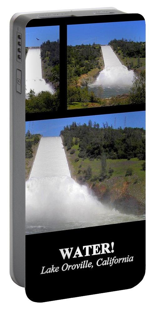 Poster Portable Battery Charger featuring the photograph Water by AJ Schibig