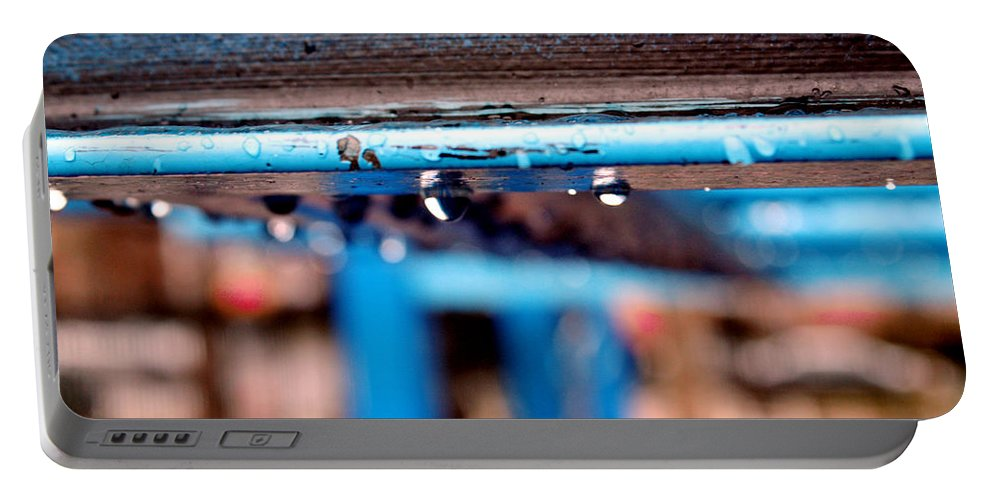 Water Portable Battery Charger featuring the photograph Water Blue by Mark Ashkenazi