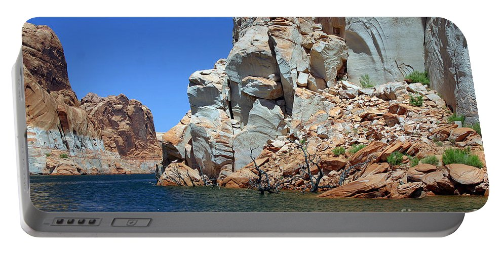 Canyon Portable Battery Charger featuring the photograph Water Canyon II by Bob Hislop