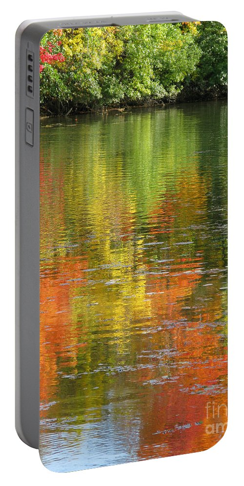 Autumn Portable Battery Charger featuring the photograph Water Colors by Ann Horn