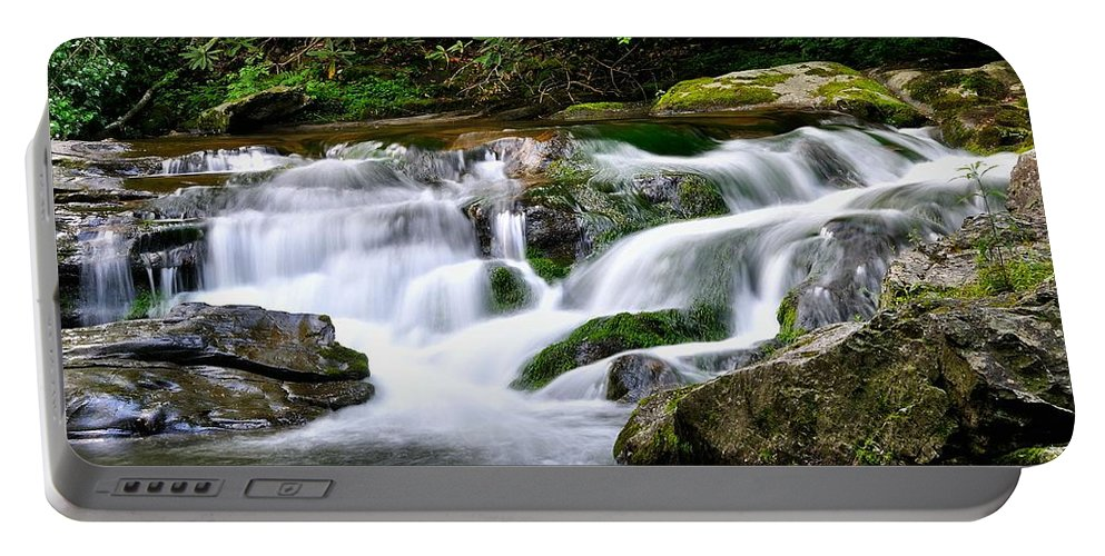 Mountain Stream Portable Battery Charger featuring the photograph Water Fall 2 by Todd Hostetter