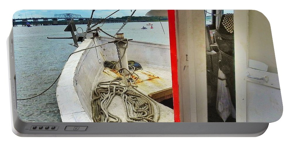 Shrimp Boat Portable Battery Charger featuring the photograph Water Festival Beaufort South Carolina by Patricia Greer
