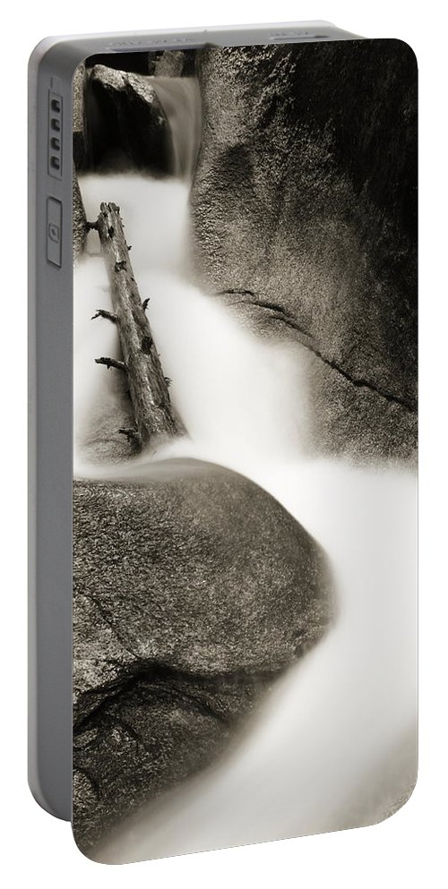 Flume Portable Battery Charger featuring the photograph Water Flume by Roupen Baker