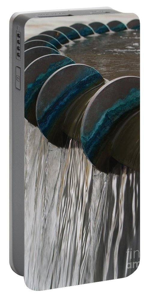 Water Portable Battery Charger featuring the photograph Water Fountain Natural Art In Progress by Robin Maria Pedrero